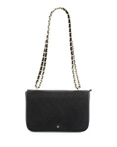 Robinson+Perforated+Flap+Bag,+Black+by+Tory+Burch+at+Neiman+Marcus.
