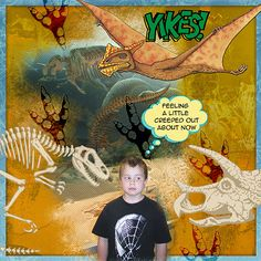Yikes Digital Scrapbooking Layout by Valerie Randall