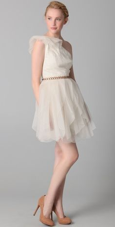 I love this cocktail dress! Its fun, flirty, and elegant.  Perfect if you have great legs, like me!