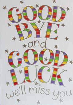Farewell and good luck card