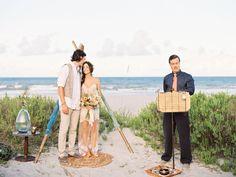 Eclectic Beach Wedding