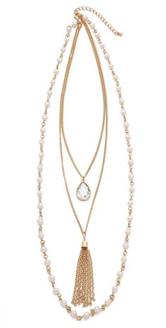 Jules Smith Antique Layered Tassel Necklace | SHOPBOP