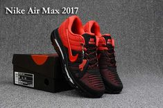 0d0b552e2dd0a Nike Air Max 2017 Run Shoes Top Black Red For Men Men Sneakers