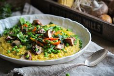 Polenta aus frischem Mais mit knackigem Gemüse