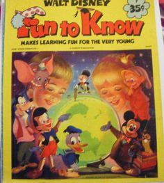 Walt Disney Fun To Know Magazine Makes Learning Fun by parkledge, $15.00