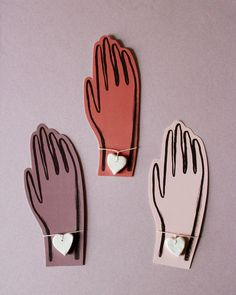 Valentine Clay Heart Bracelets