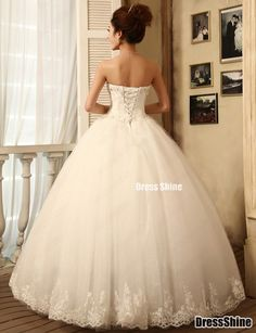 Sweetheart Tulle and Lace Ball Gown Wedding Dress - Wedding Dresses