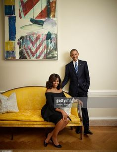 President Barack Obama and First Lady Michelle Obama are photographed for Essence Magazine on July 20, 2016 in Washington, DC.
