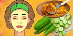 Cucumber + Turmeric = Gorgeous Skin and Your Face Will Become 10 Years Younger - The Real Healthy Thing Wash Your Face, Face And Body, Cucumber Mask, Body Detoxification, Baking Soda Shampoo, To Loose, Grow Hair, Diy Hairstyles, Korn