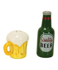 This Beer Salt & Pepper Shakers is perfect! #zulilyfinds