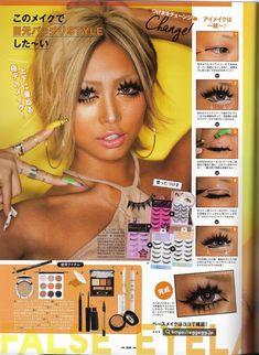 Gyaru Hair, Gyaru Makeup, Hair Makeup, Gyaru Fashion, Harajuku Fashion, 90s Fashion, Maquillaje Gyaru, Aesthetic Makeup, Makeup