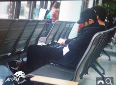 141025-김포공항 출국-#명수 많이 피곤한 명수…잘 쉬어……ㅠㅠㅠㅠ