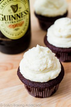 St. Patrick's Day Recipe: Guinness Chocolate Cupcakes with Irish Cream Frosting