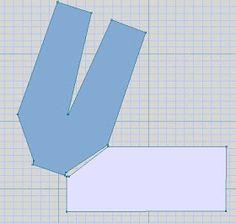Interesting sideways raglan shape to get the sleeves to taper to wrist.