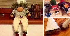Kreatívny DIY nápad s návodom na rozkošnú vianočnú dekoráciu, ktorú budete chcieť aj Vy. Vianočný škriatok. Handmade vianočná dekorácia, Vianoce, ozdoba