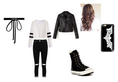"""""""bad girl"""" by clawdeen-jo ❤ liked on Polyvore featuring Boohoo, Converse, Casetify and Joomi Lim"""