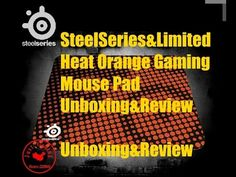 SteelSeries QCK+ Limited Edition Heat Orange Gaming Mouse Pad Review & U... Mousse, Gaming, Orange, Videogames, Game