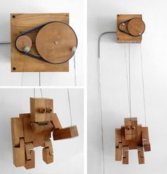 One of the mechanical puppets of my laste exibitions Seven Basic Excercices is part of Wooden toys - Kinetic Toys, Kinetic Art, Diy Arts And Crafts, Wood Crafts, Wooden Projects, Diy Projects, Mechanical Art, Cardboard Toys, Wood Toys