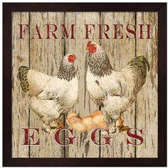 Metaverse Art  Farm Fresh Eggs  II Framed Wall Art
