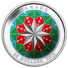 Fine Silver Ultra-High Relief Coloured Coin – Christmas Ornament - Mintage: 6,000 (2014)