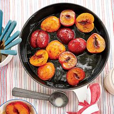 Bourbon-Soaked Plums | Use your favorite kind of plums, or sub nectarines or peaches, if desired. Make sure they're just firm and not too ripe.