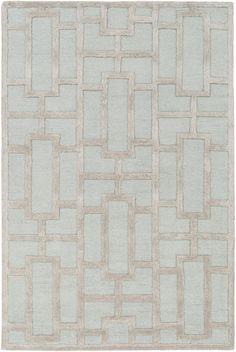 Embodying stylish and trendy design with timeless construction, this flawless rug will effortlessly cement itself as your ''go to'' rug for your space. Hand Tufted in 100% wool, the stunning geometric pattern intricately sewn within this perfect...