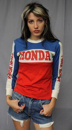 Vintage 70s 80s Team Honda Motocross Jersey T Shirt x Small | eBay