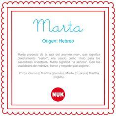 El nombre del bebé: Marta #BebésNUK