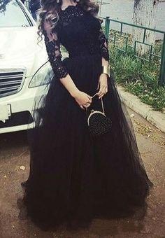 Custom Made Evening Dresses, Black Evening Dresses, Prom Dresses Lace, Lace Black Prom Dresses, 2018 Prom Dresses Black Evening Dresses, A Line Prom Dresses, Tulle Prom Dress, Black Wedding Dresses, Cheap Prom Dresses, Pageant Dresses, Evening Gowns, Prom Gowns, Party Dresses