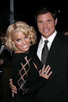 Jessica Simpson and ex husband Nick Lachey at the People's Choice Awards in 2005.
