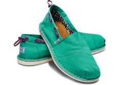 Green stitch out Toms