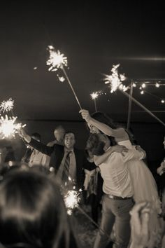 Sparklers are such a good idea.