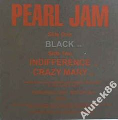 Pearl Jam  Black / Indifference ..PROMO /MINT