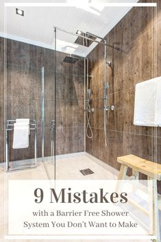 Learn the top 9 mistakes with barrier free shower systems and how to eliminate them from your next project. For help with a one level wet room or ramped shower pan or base contact Innovate Building Solutions at Cheap Bathroom Remodel, Shower Remodel, Bathroom Renovations, Bathroom Makeovers, Bath Remodel, Handicap Bathroom, Master Bathroom Shower, Bathroom Ideas, Bathroom Showers