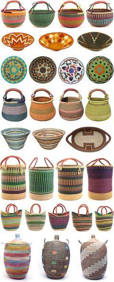 Handmade Home Decor Rope Basket, Basket Weaving, African Design, African Art, African Interior, Handmade Home Decor, Wicker, Rattan, Objects