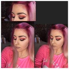 Products: Loreal true match  Mac studio fix powder  Loreal lumi magique  Nyx bronzer  Inglot sparkle dust 02 All eye shadows are morphe 35U  Liner and brows are inglot  Lips are the balm pay mai bills!   #beauty_features #makeupjunkie #ilovemakeup #inglotireland #makeupforever #irishmua #irishmakeupartist #mua #inglot #wakeupandmakeup #pinkhair #pinkhairdontcare #makeup #makeupdolls #nofilter #muafinder #_slayyybabygirl_ #makeupaddict #makeupartist #makeupartistworldwide…