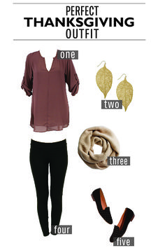 The Perfect Thanksgiving Outfit. Minus the shoes and scarf. Add cute leather boots and a couple simple gold necklaces.