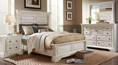 Affordable Queen Size Bedroom Furniture Sets for sale. Large selection of queen bed sets: contemporary, modern, traditional, white, black, brown, cherry, espresso, etc#iSofa #roomstogo