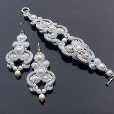Купить ВАЛЬС МЕНДЕЛЬСОНА-сутажный комплект (серьги, браслет) - свадебные аксессуары, свадебное украшение