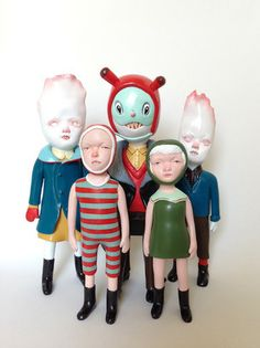 Doubleparlour Sculptures - The husband and wife duo creates curiously creepy, macabre sculptures that make for unusual toys