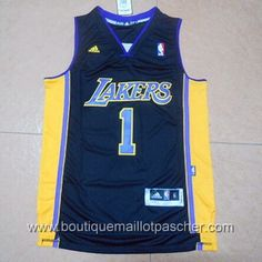 maillot nba pas cher Los Angeles Lakers Russell #1 Noir nouveaux tissu 22,99€
