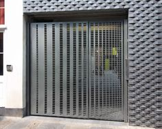 Laser cut gates - London. Diminishing square design by Miles and Lincoln. www.milesandlincoln.com