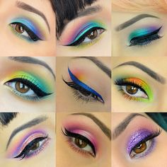 Went through my phone today to grab some motivation/inspiration from previous looks I did. Can't wait to cook up some more colorful looks this summer! (P.S. I pretty much used @sugarpill in every photo... They are the best and still my favorite brand!)