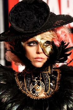 Remember this look from Lady Gaga's very first VMAs appearance?