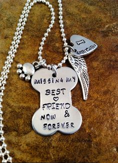 Pet Loss Necklace Personalized Pet Jewelry by JillsArtsyCreations, $22.00