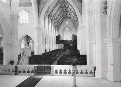 Interior of St Patrick's Cathedral showing the choir loft before it was removed in 1972.