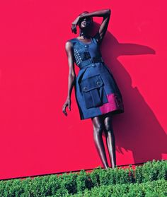"""Mixed Message"" Ajak Deng by Julia Noni for Neiman Marcus March 2015"