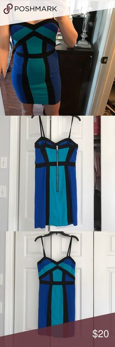 Xoxo spaghetti strap dress Super sexy! Dress is a size 7/8 but fits like a 4. I am usually a size s/m and this is what it fits like. XOXO Dresses Mini