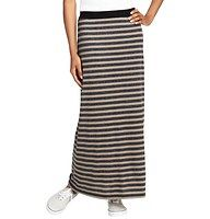 """Striped Maxi Skirt - Done in sweet heathered stripes, we love the relaxed gorgeous (and soft, stretchy perfection) of this long and languid go-to. Contrast banded elasticized waistband. 38"""" long."""