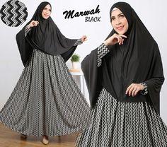 Baju Muslim Gamis Syar'i Marwah Syari Hitam - http://warongmuslim.com/baju-muslim-gamis-syari-marwah-syari-hitam.html